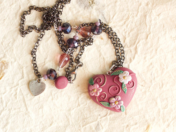 New ideas for a polymer clay heart pendant