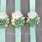 Wristlet corsage, orchid wrist corsage, wedding corsage, wrist bridal bouquet wedding accessories bridesmaids clay flowers, orchid bracelets