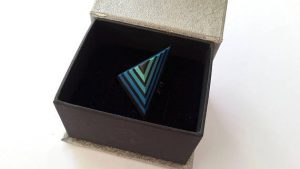Polymer clay triangle ring