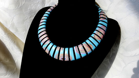 Original polymer clay necklace