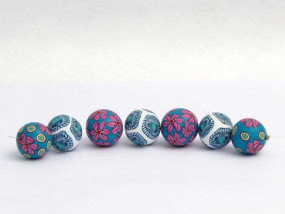 Polymer clay millefiori beads