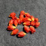 Lilac polymer clay flowers, polymer clay flower bead