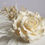 Bridal flower hair pin, Gardenia clip, Wedding hair pin, Wedding hair clip, Bridal hair flower, Flower hair pins, wedding hair accessories