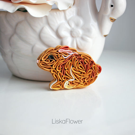 Polymer clay jewelry in an unique style