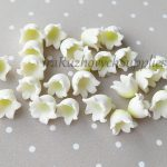 Calla white polymer clay flowers, polymer clay flower bead