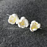 Gold five petal polymer clay flowers,middle size, polymer clay flower bead