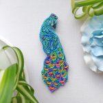 Polymer clay fern leaf brooch pin, fern leaf jewelry, plant jewelry, floral brooch, green jewelry, polymer clay leaf, forest jewelry