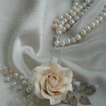 Rose Bridal hair pin Rose Bridal hair flower Flower Wedding hair pin Flower Bridal hair pin Bridal hair piece Bridal hair accessories