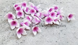 Polymer clay floral beads