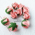 Pink lilac polymer clay flowers, polymer clay flower bead