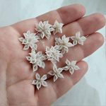 Snowdrops flowers , polymer clay flower bead