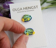 Polymer clay fish earrings