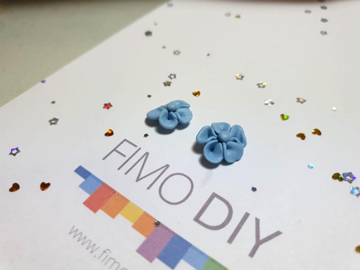 Polymer clay flower earrings diy