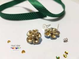 Clay earrings diy