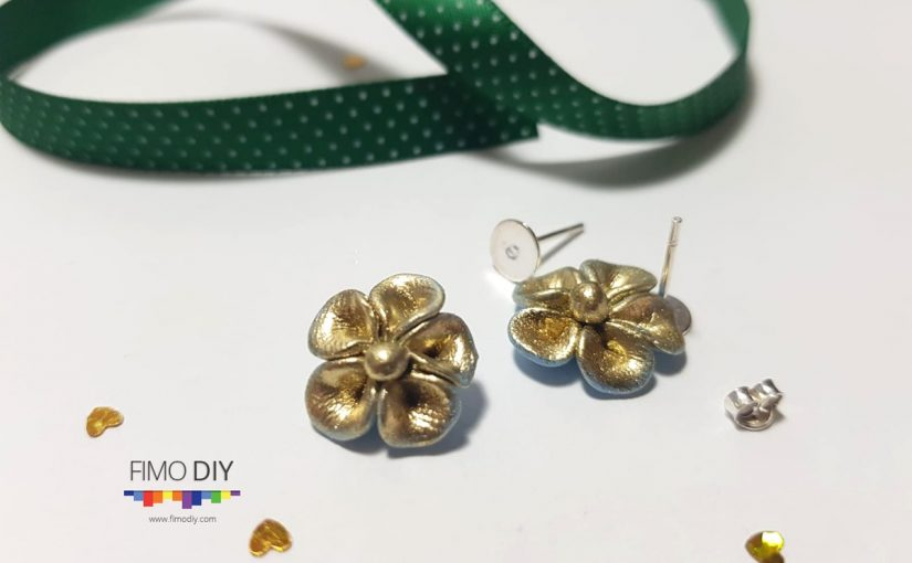 How to make polymer clay arch earrings