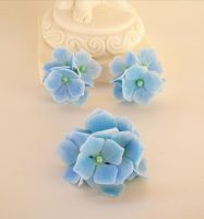 Polymer clay Hydrangeas jewelry