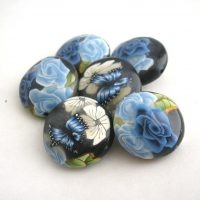 Polymer clay cane beads