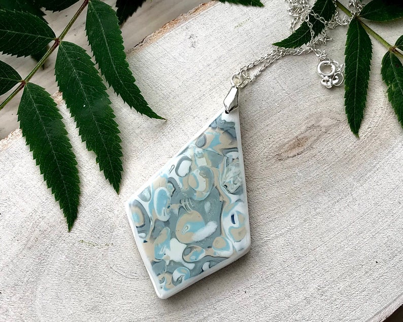 Clay shaded pendant