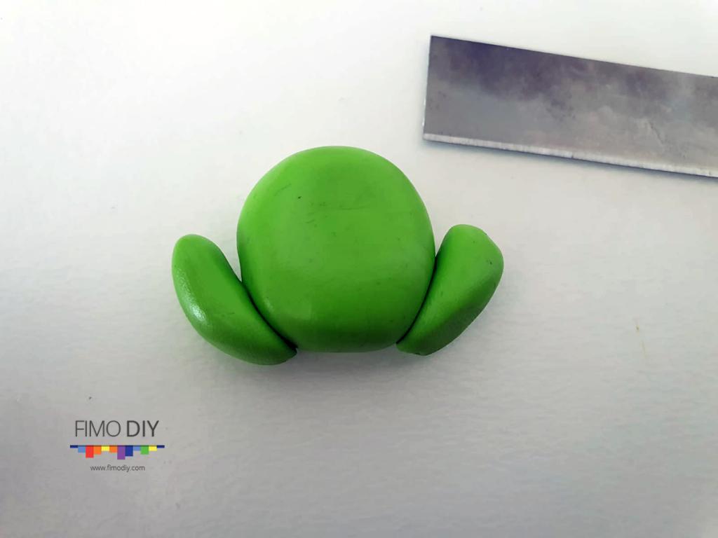 Polymer clay frog tutorial diy step-2
