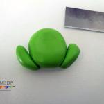 Polymer clay frog tutorial diy step-1