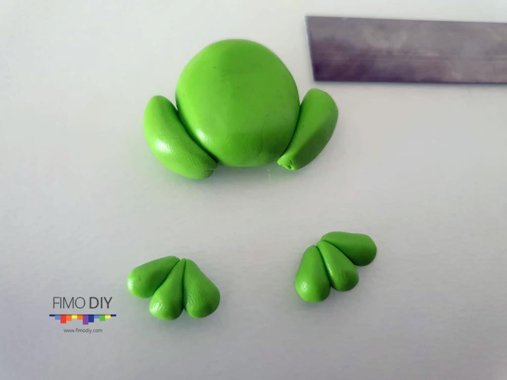 Polymer clay frog tutorial diy step-4