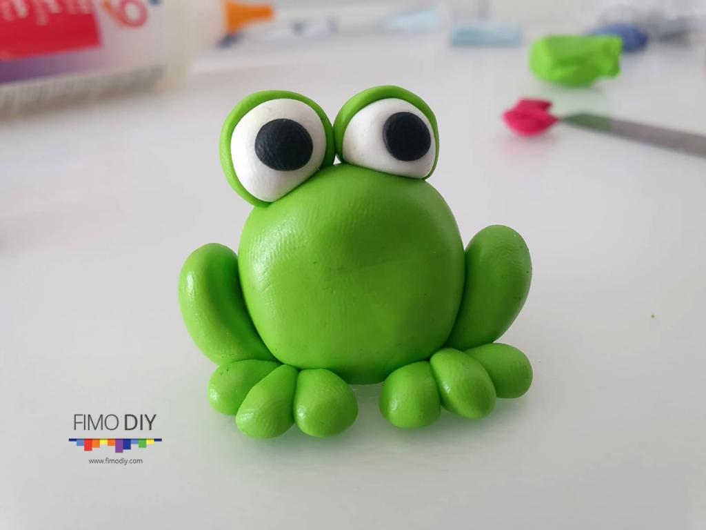 Polymer clay frog tutorial diy step-7