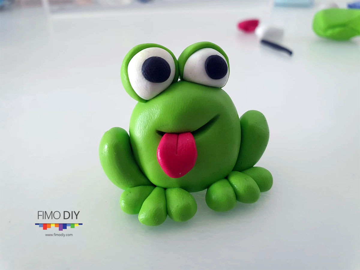 Polymer clay frog diy tutorial