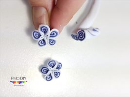Polymer clay flower earrings diy